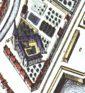 Detail vogelvluchtkaart Blaeu uit 1649